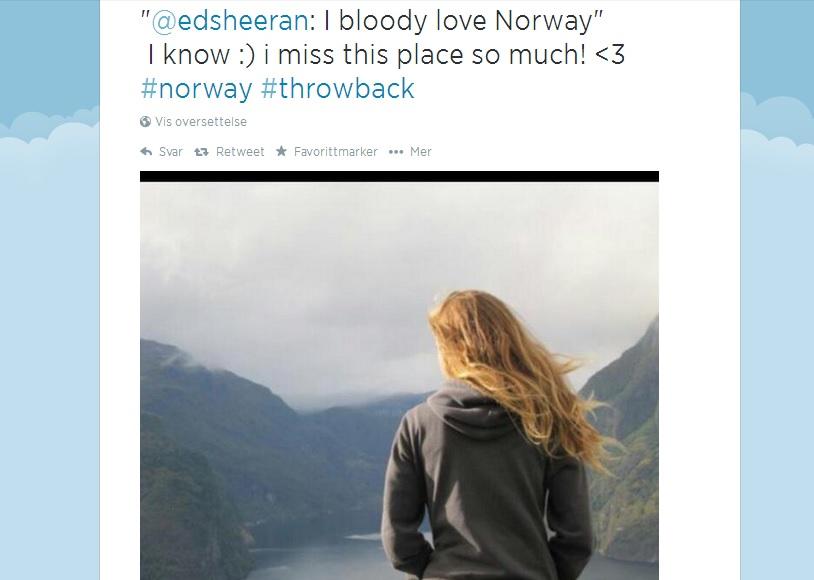"Twitter Pick: ""I bloody love Norway"""