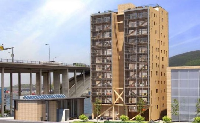 The World's Tallest Wooden House under Construction