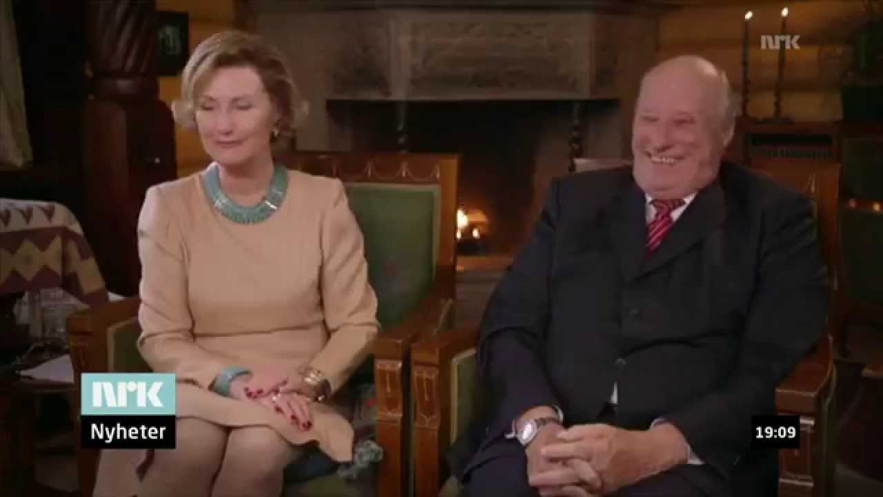 King Harald V of Norway Trolling His Wife
